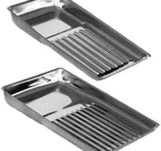 Лоток для стерилизации металлический на 8 инструментов 195 х 90мм без крышки