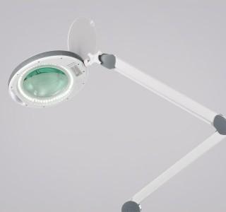 Лампа-лупа с регистрационным удостоверением ЛЛ-5 на струбцине